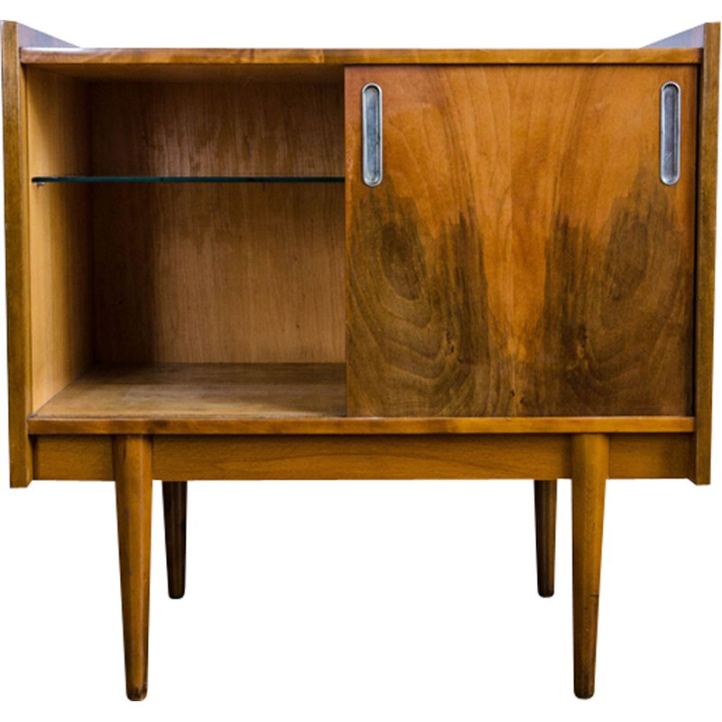 Vintage chest of drawers in walnut by Bytomskie, 1960s