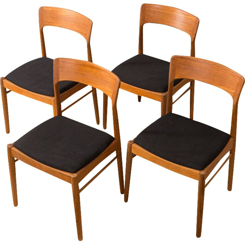 Vintage set of 4 dining chairs by K.S. Møbler from the 60s