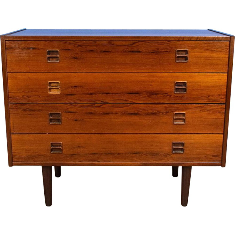 Vintage Danish Rosewood Chest of 4 Drawers, 1960-70s