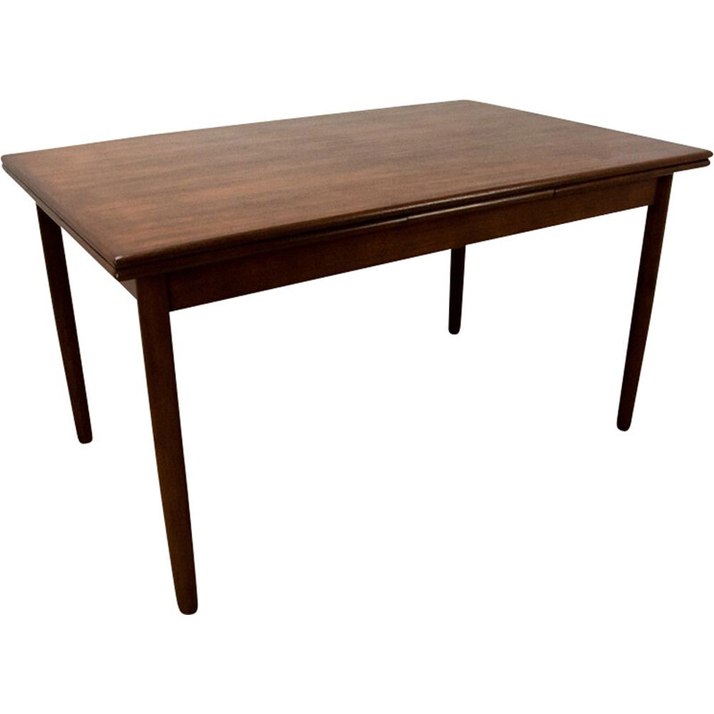 Vintage Dining Table in Teak Extendable Danish 1960s