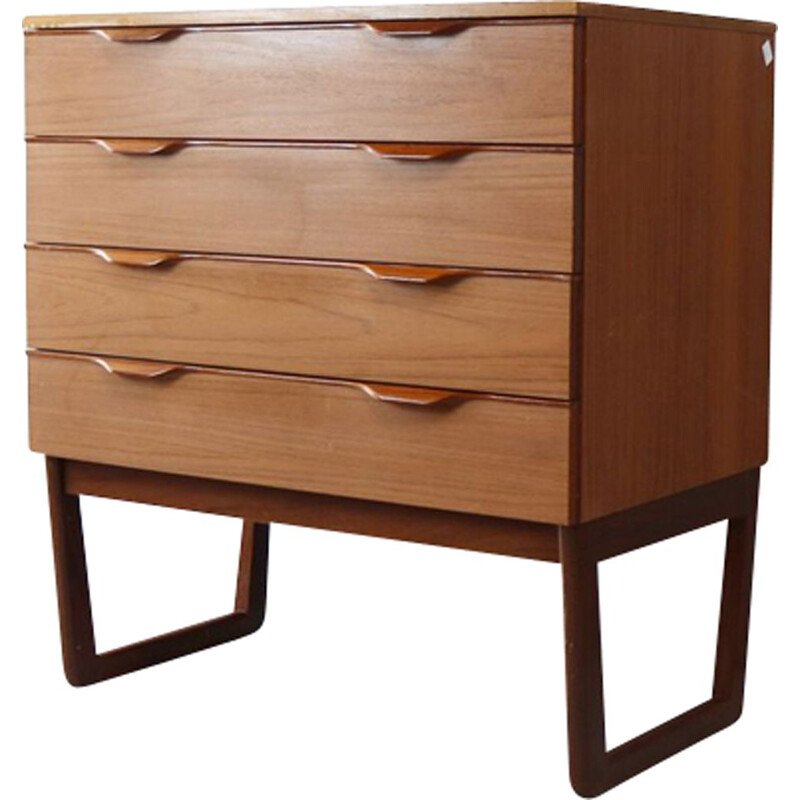 Vintage chest of drawers in teak by Europa 1970s
