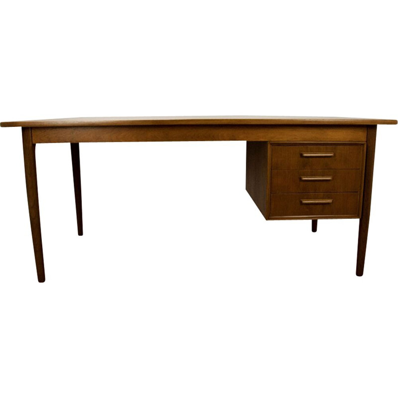 Vintage danish desk in teak 1960s