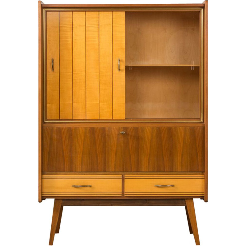 Vintage german cabinet with a showcase 1950s