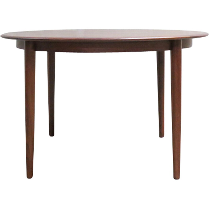 Vintage danish round dining table in teak 1960