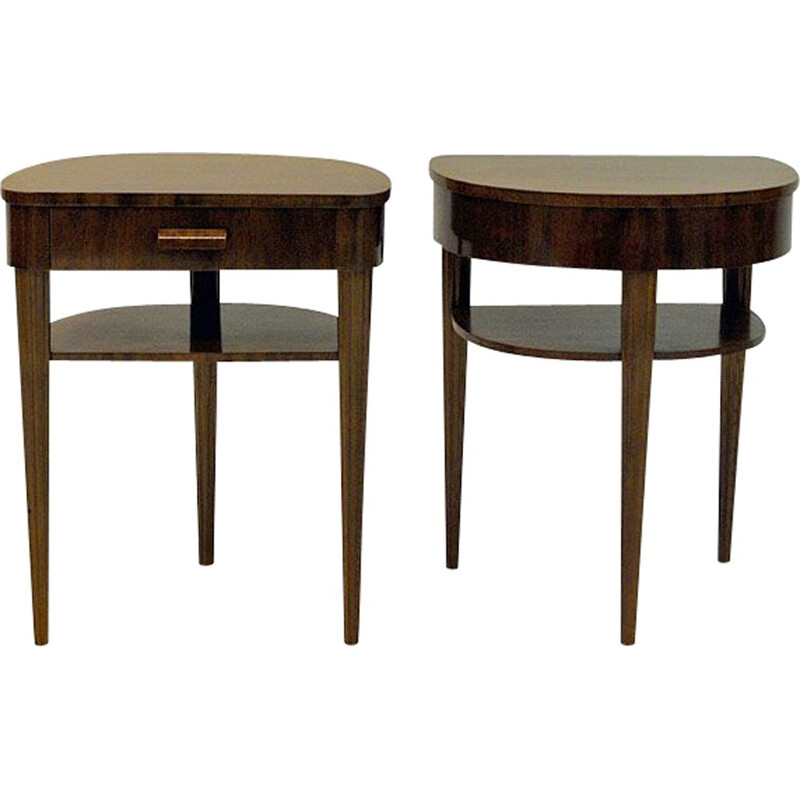 Pair of vintage side tables for Bodafors in mahogany 1940