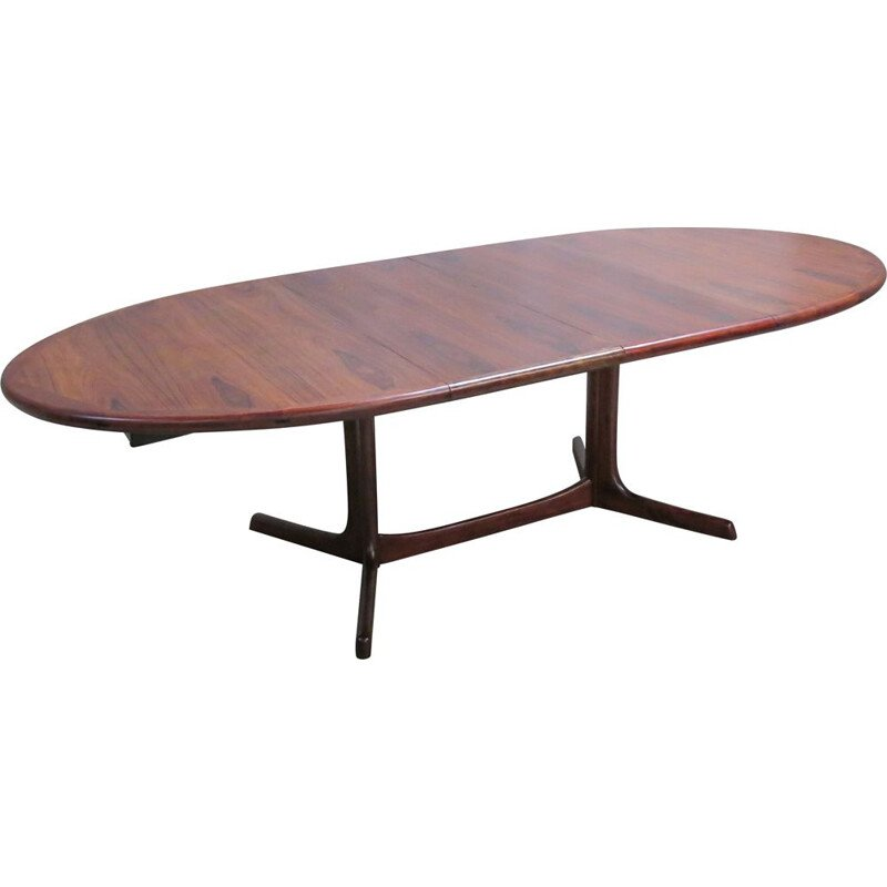 Vintage oval Danish rosewood dining table from Dyrlund