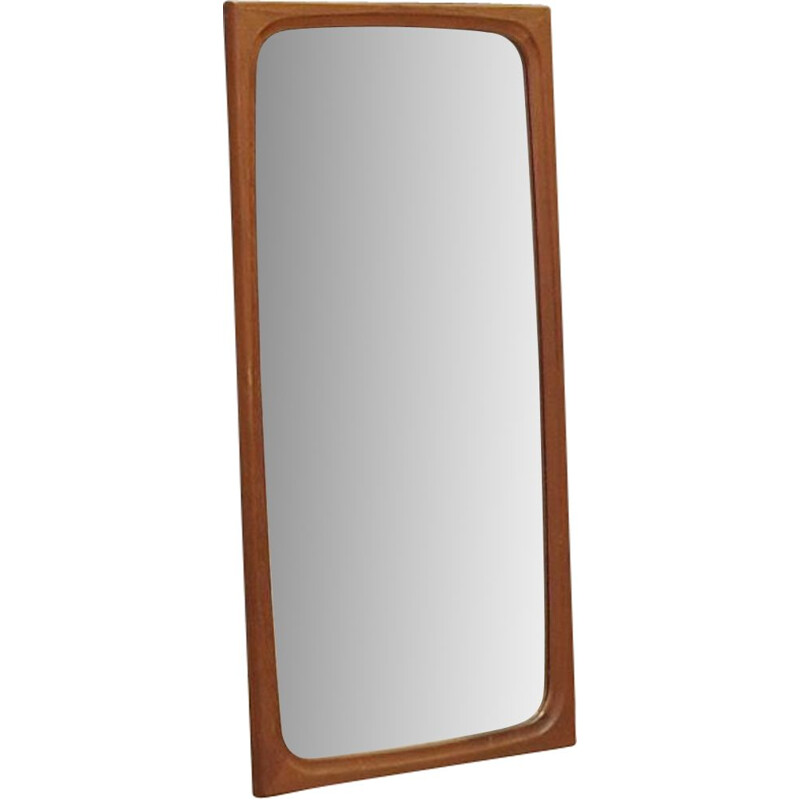 Vintage mirror in teak Danish 1960-70s