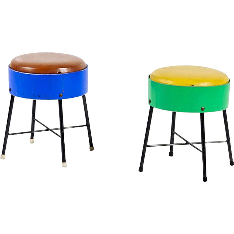 Set of 2 Vintage Children's Stools by Pilastro, 1950s