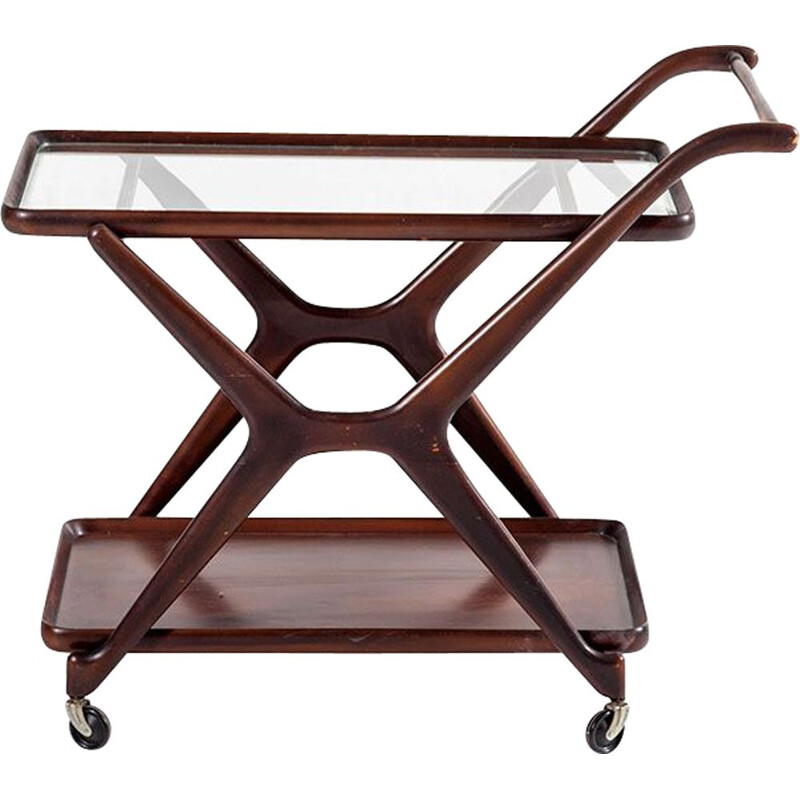 Vintage Serving Trolley by Cesare Lacca for Cassina, 1950s