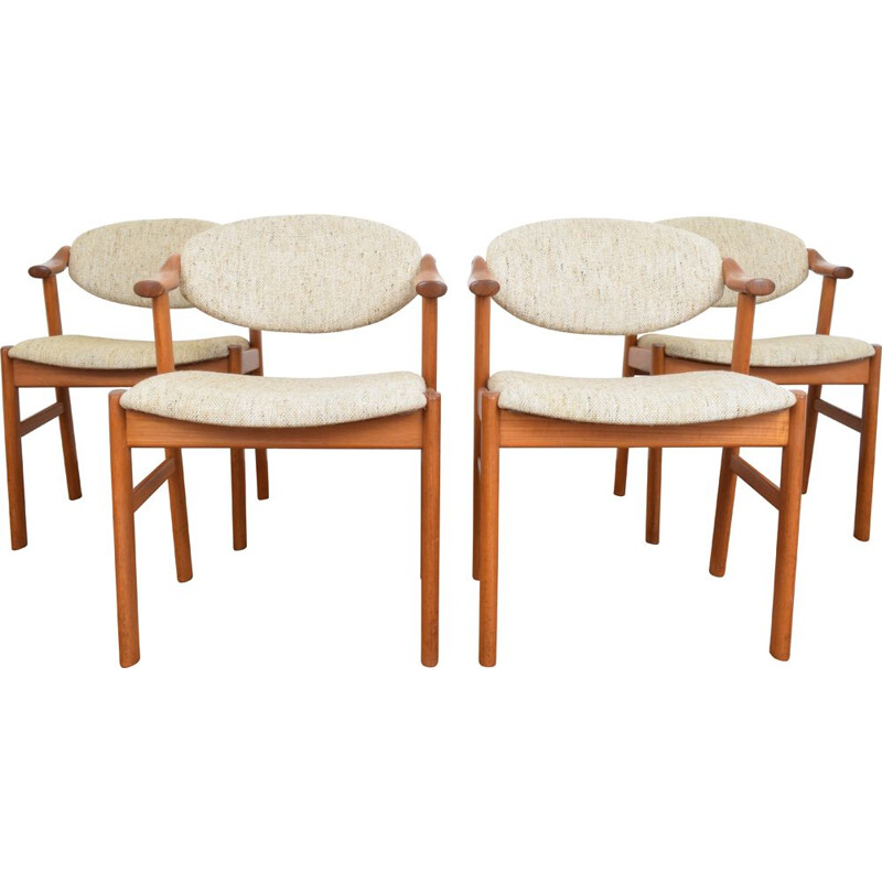 Set of 4 Vintage Dining Chairs by Kai Kristiansen for Schou Andersen, Danish 1960s