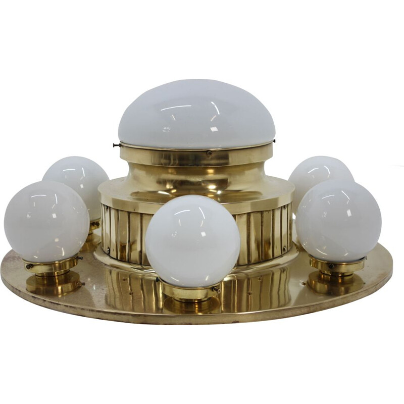 Vintage ceiling lamp in brass, 1930s