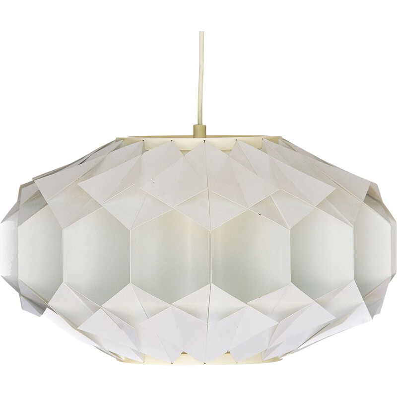 Vintage hanging lamp in Acrylic by Lars Shioler for Hoyrup lighting. 1970s