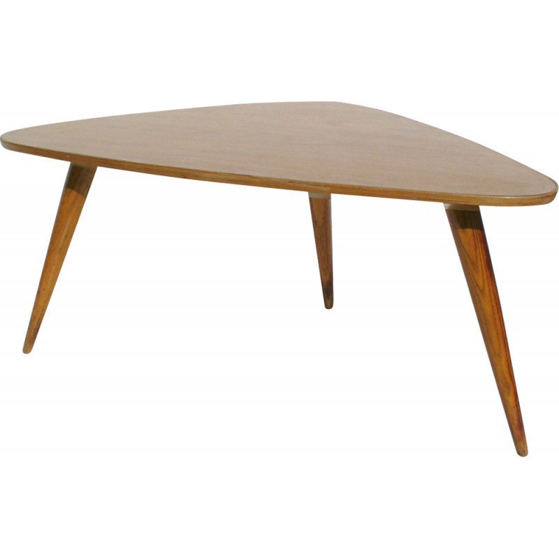 Triangle Coffee Table Wood.Triangular Coffee Table In Wood And Melamine 1950s