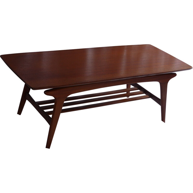 Scandinavian coffee table in mahogany - 1970s
