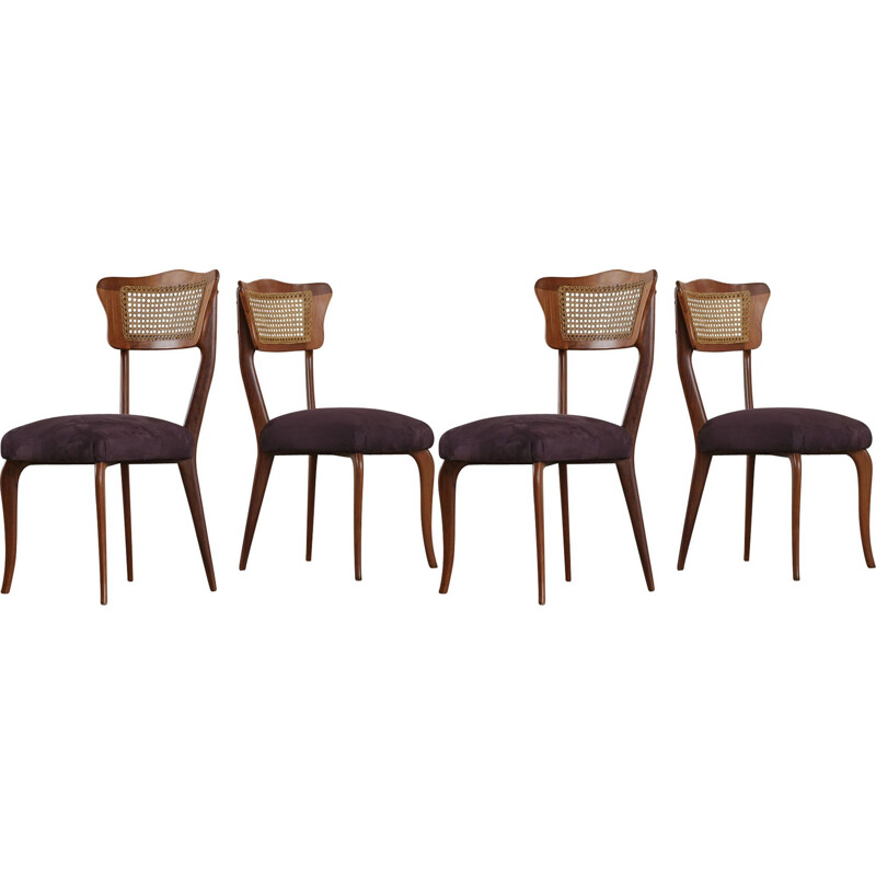 Set of four dining chairs by Giuseppe Scapinelli, 1960s