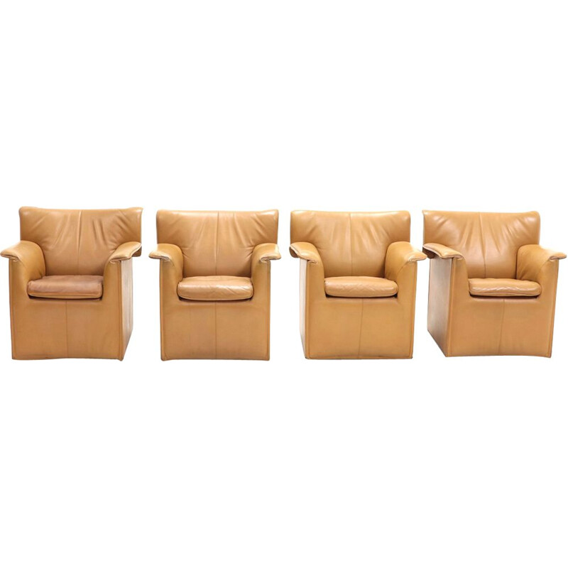 "Set of 4 vintage ""Lauriana"" armchairs by Afra & Tobia Scarpa,1970"