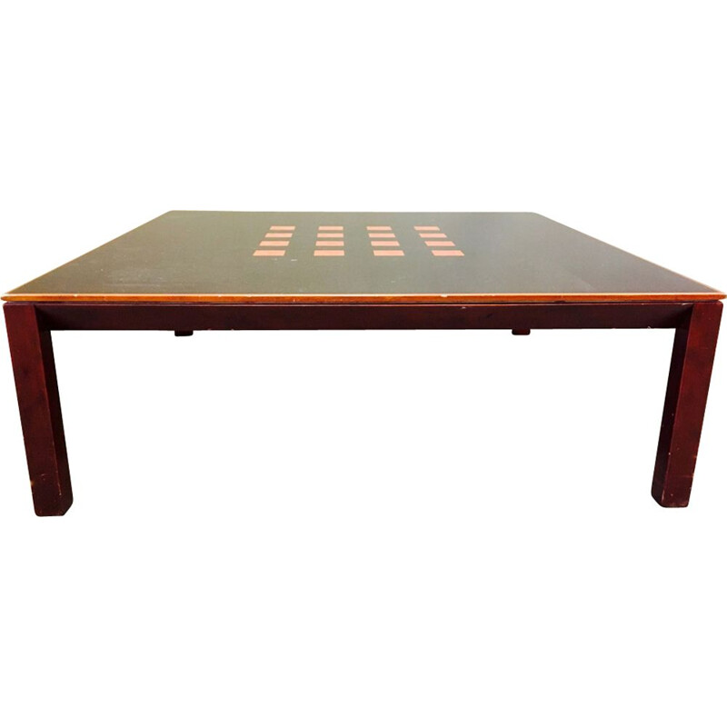 Vintage coffee table in mahogany and elm Scandinavian