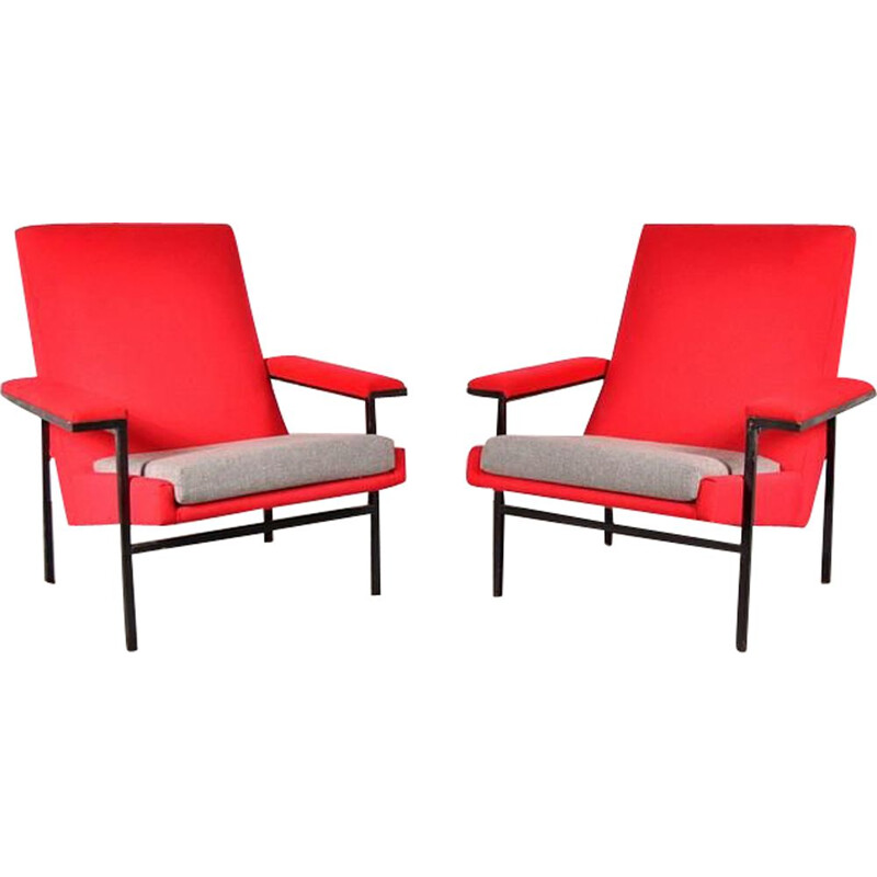 Pair of vintage armchairs ARP by Steiner, France 1950s