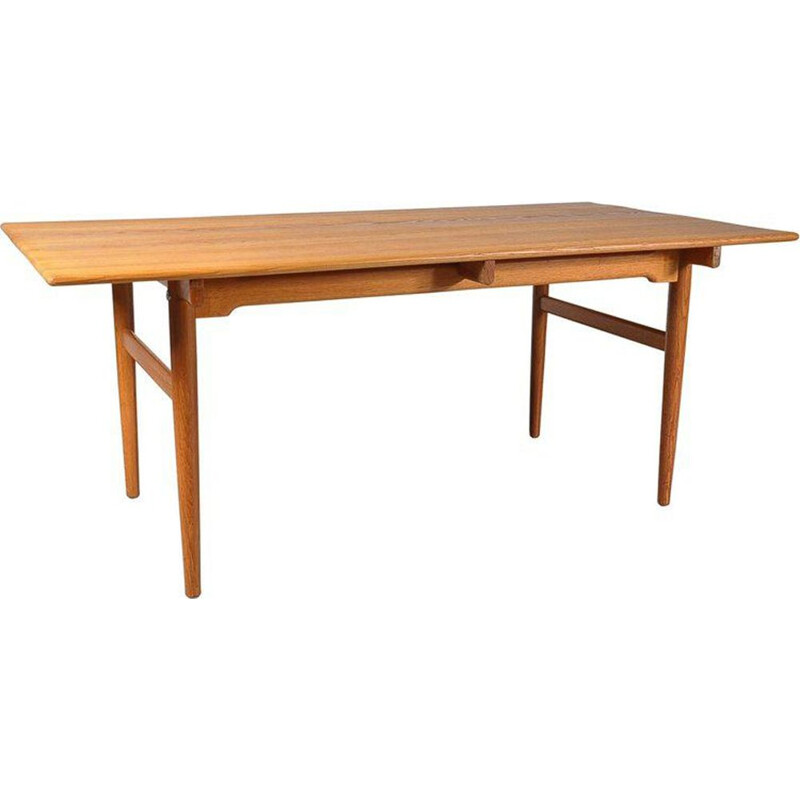 Vintage Dining Table in Oak Hans J. Wegner by Andreas Tuck, Denmark 1950s