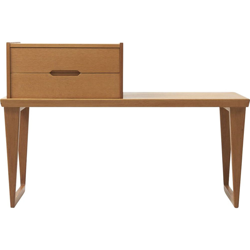 Vintage scandinavian desk for Aksel Kjersgaard in oakwood 1960