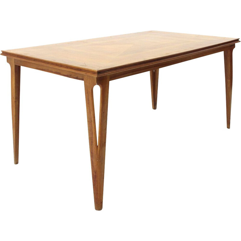Vintage italienne table in wood 1950