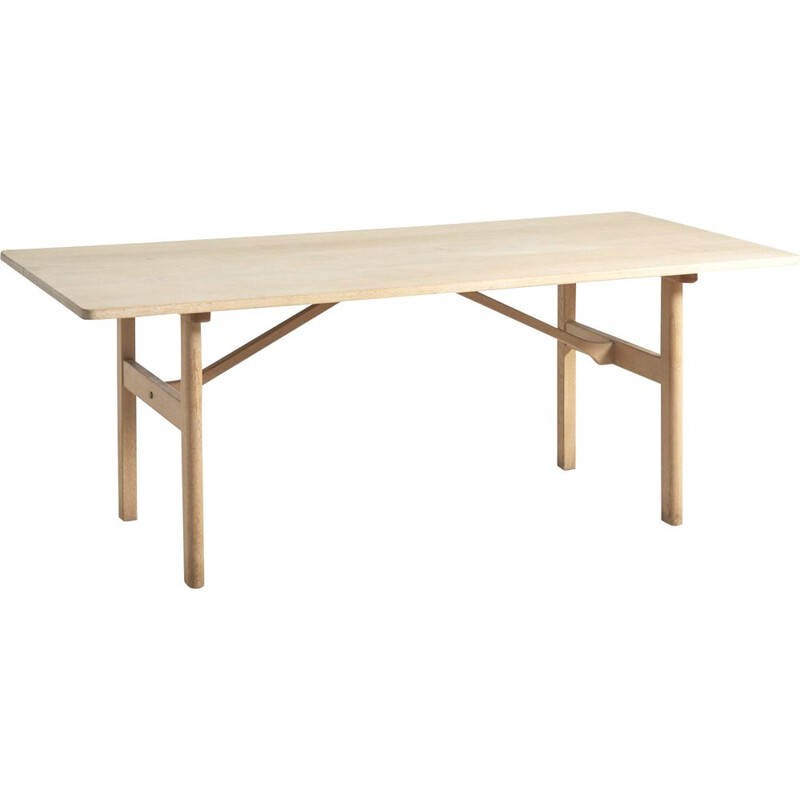 Vintage 6284 table for Fredericia in solid oakwood 1950