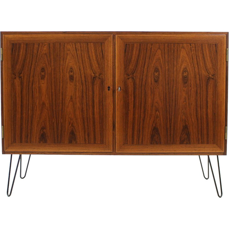 Vintage sideboard by Kai Winding in iron and rosewood 1960