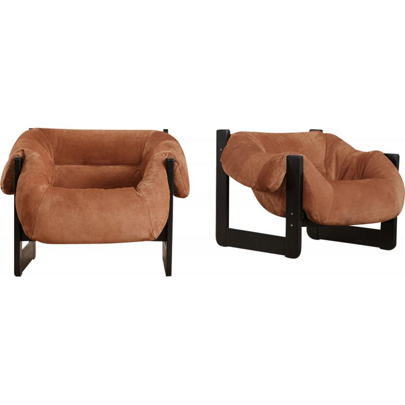 Set of 2 vintage armchairs, by Percival Lafer, 1960s