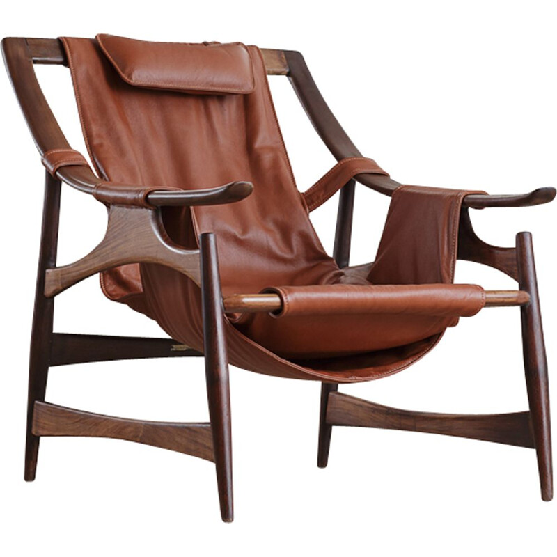 Vintage Rosewood armchair, by Liceu de Artes and Officios,  1960s