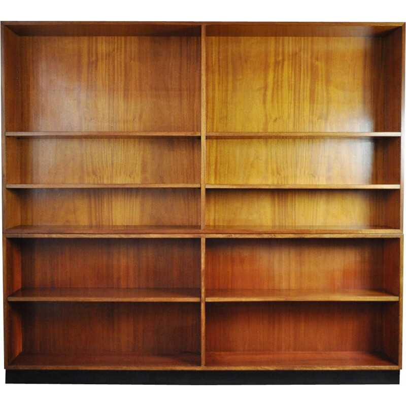 Vintage bookcase for Rasmussen in mahogany and brass 1930