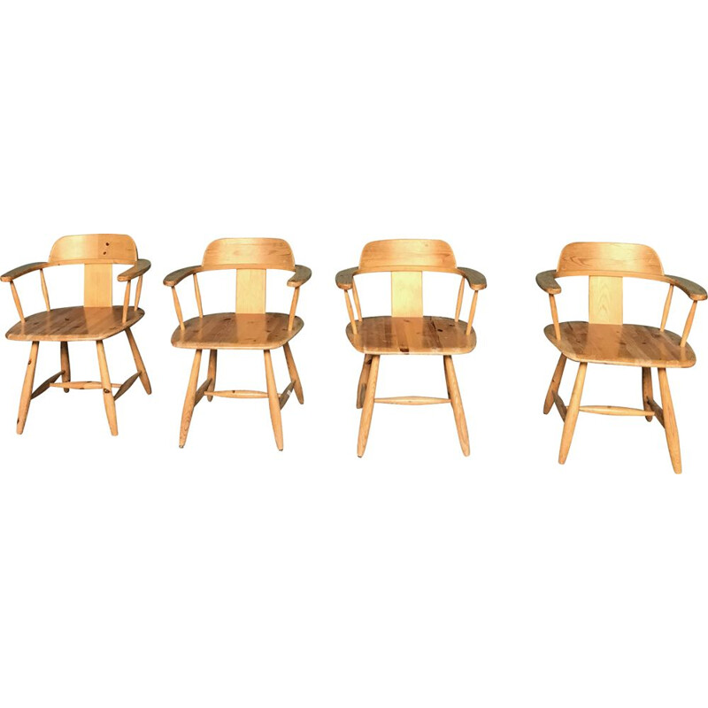 Vintage set of 4 Scandinavian armchairs from the 60s