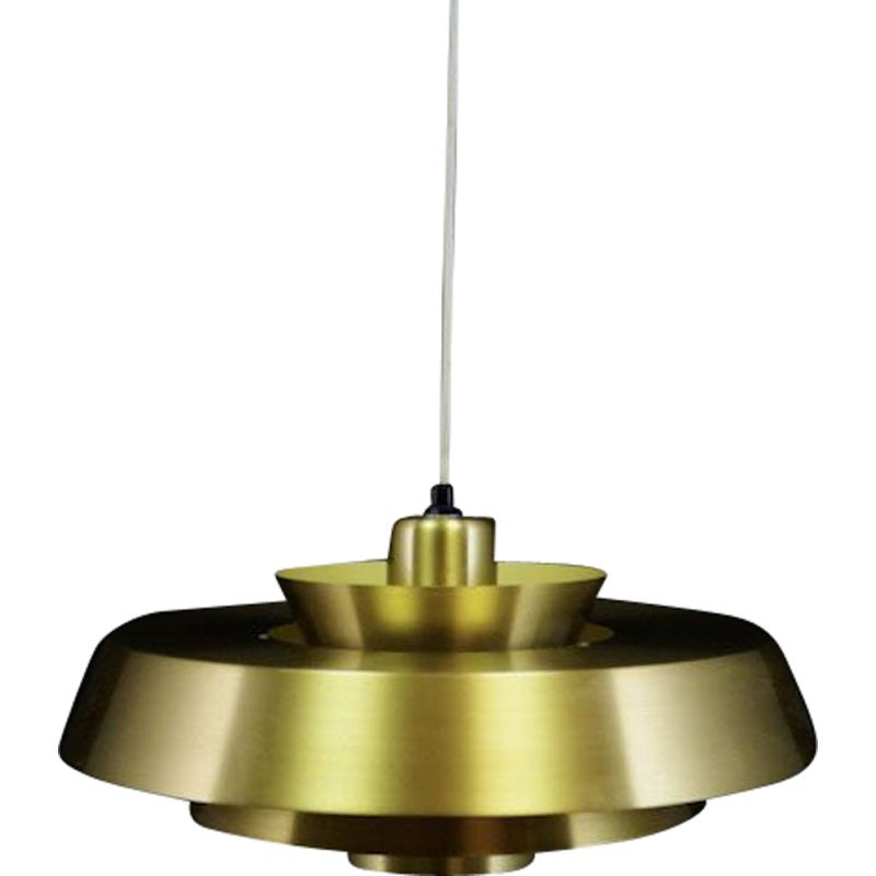 Vintage danish pendant light by Jo Hammerborg for Fog & Mørup from the 70s