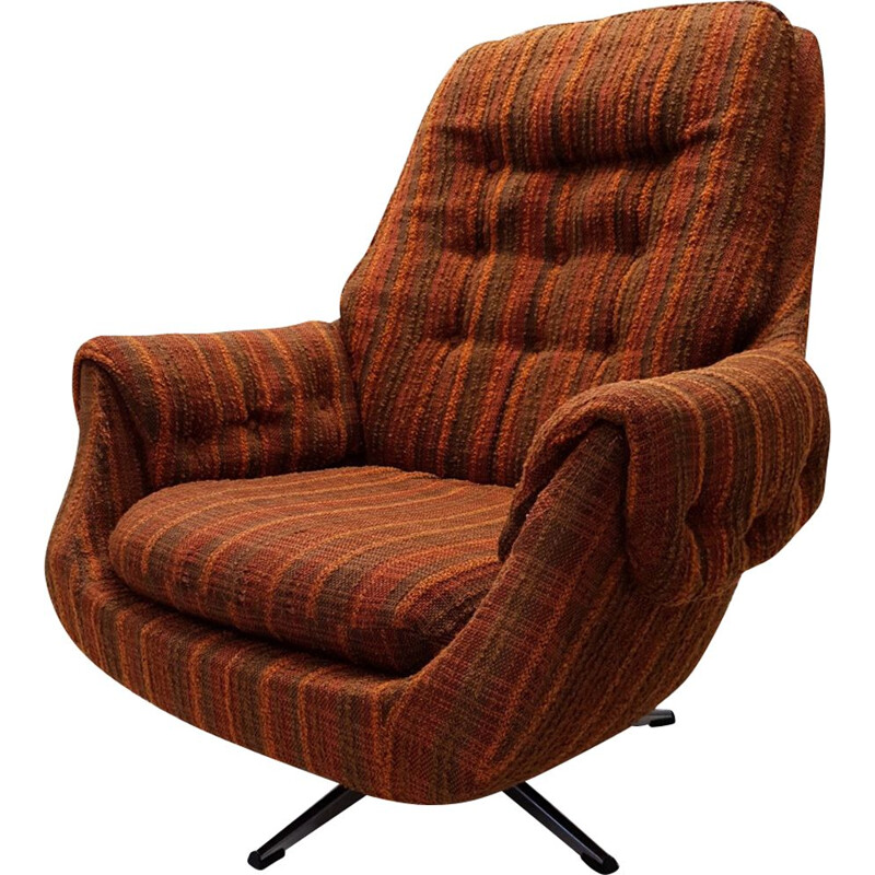 Vintage Lounge Chair Retro Swivel Egg, 1970s