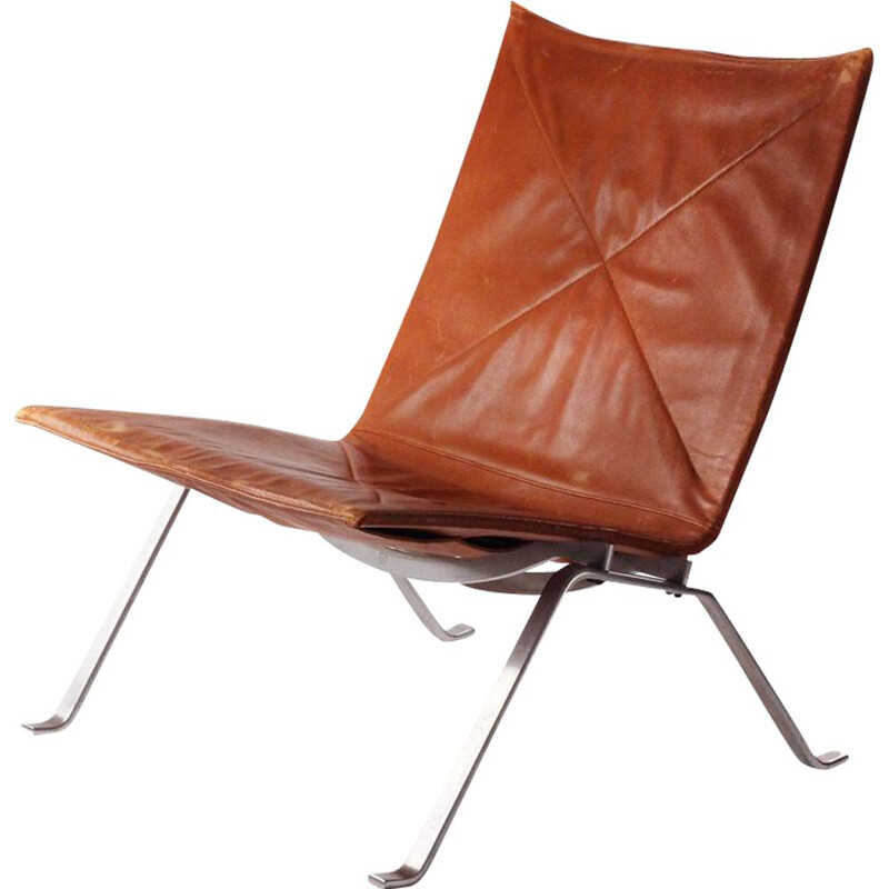 Vintage easy chair PK22 by Poul Kjaerholm for E.Kold Christensen 1960s