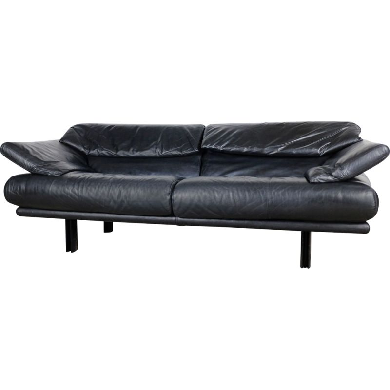 Vintage sofa in leather by Paolo Piva for B&B Italia