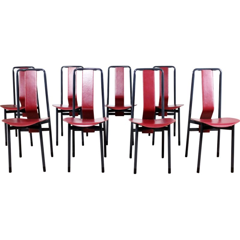 Set of 8 vintage chairs Irma by Achille Castiglioni for Zanotta, 1980