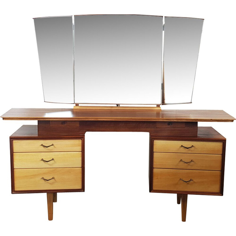 Vintage Dressing Table with Mirror SKU No. 140 by Alfred Cox for AC Furniture 1960s