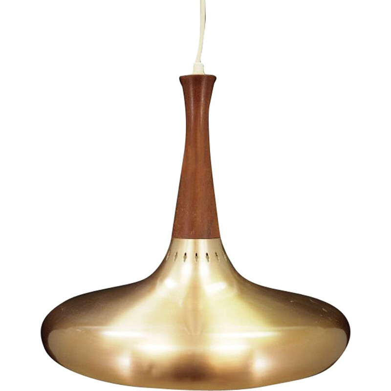 Vintage hanging lamp by Jo Hammerborg for Fog & Mørup Scandinavian 1960-70s