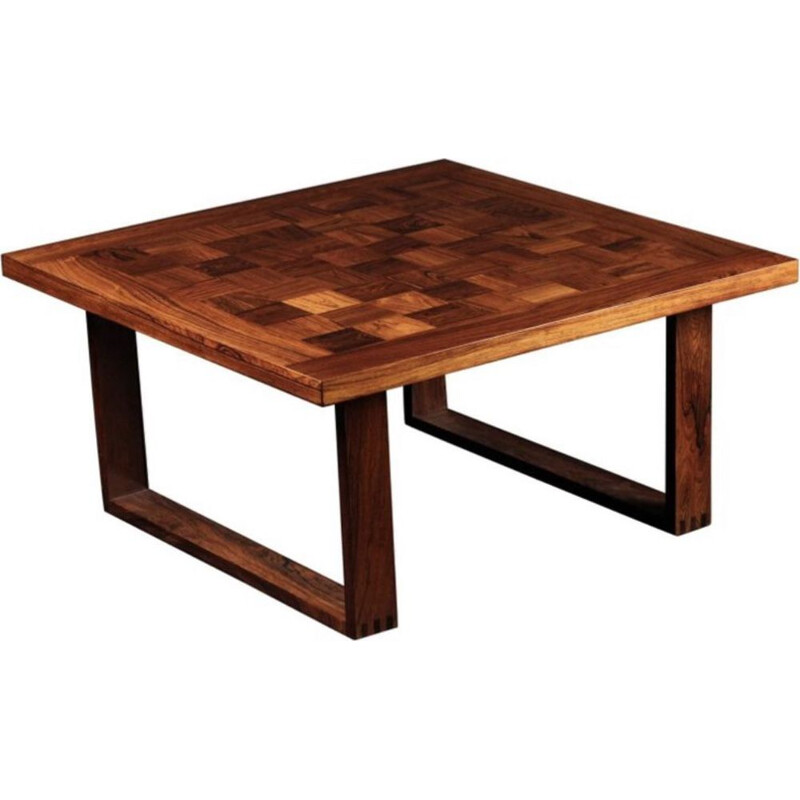 Vintage coffee table in rosewood Chess Boogie- Woogie Poul Cadovius 1960s
