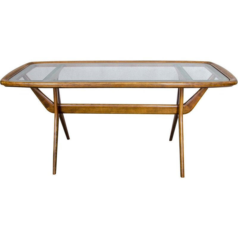 Vintage Cherrywood Coffee Table by Cesare Lacca for Cassina, 1960s