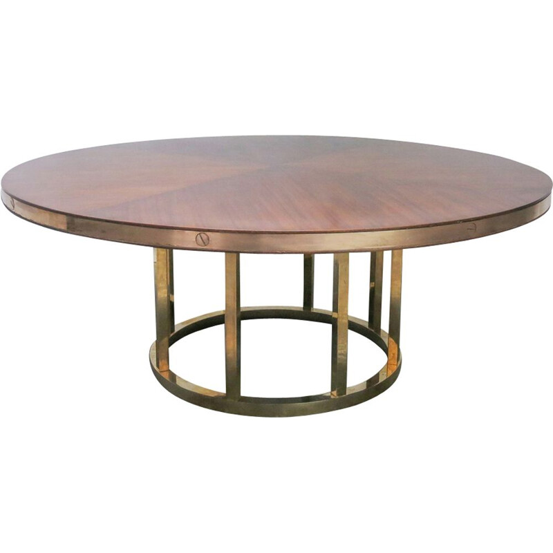 Vintage Italian Round Dining Table, 1970s