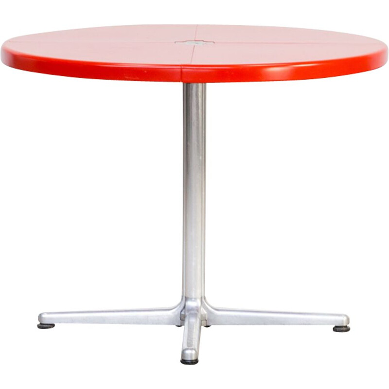 Vintage Plana table for Castelli in red plastic and aluminium 1970