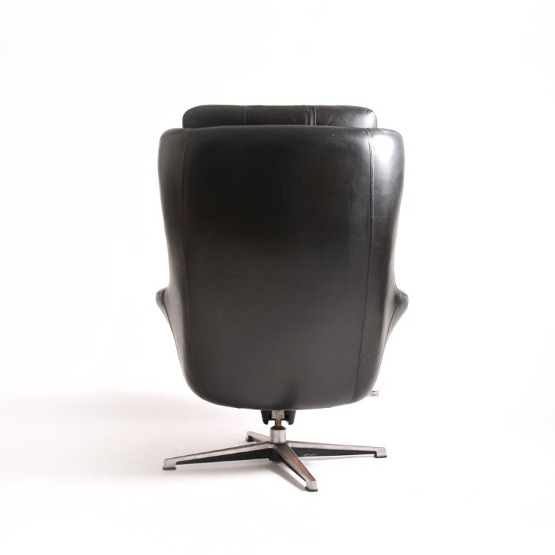 Black Leather Armchair, Peem, 1960s. Vintage Design Furniture. Previous