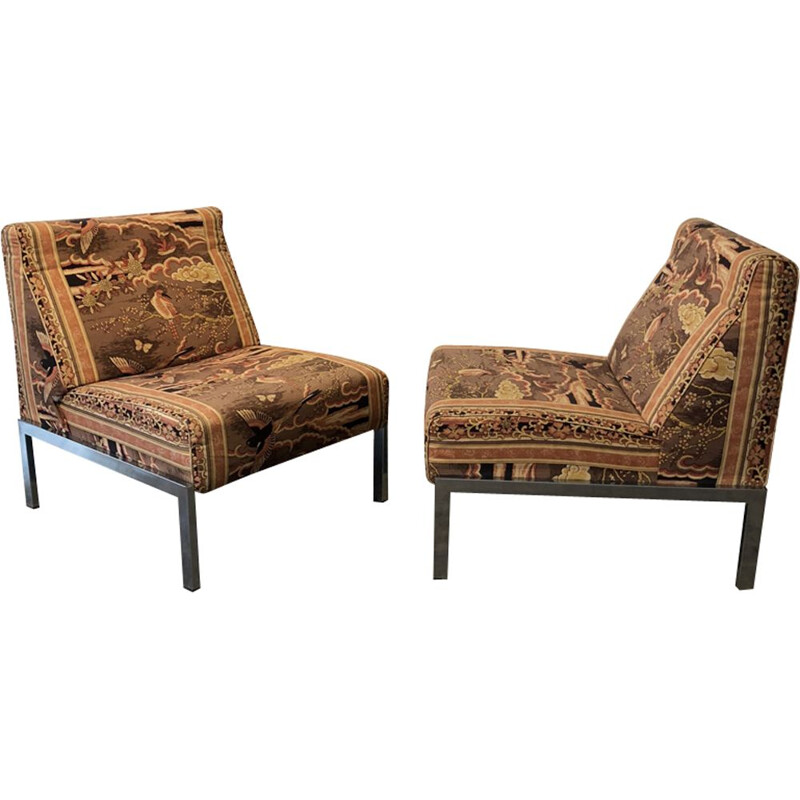 Pair of vintage low chairs 1970