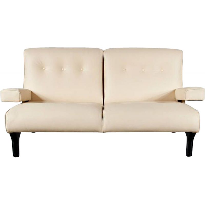 Vintage sofa in Leather Eugenio Gerli by Tecno, Italy 1960s