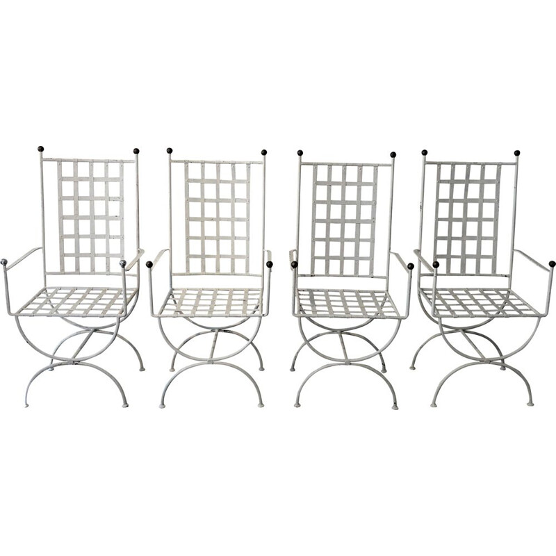 Set of 4 vintage garden chairs