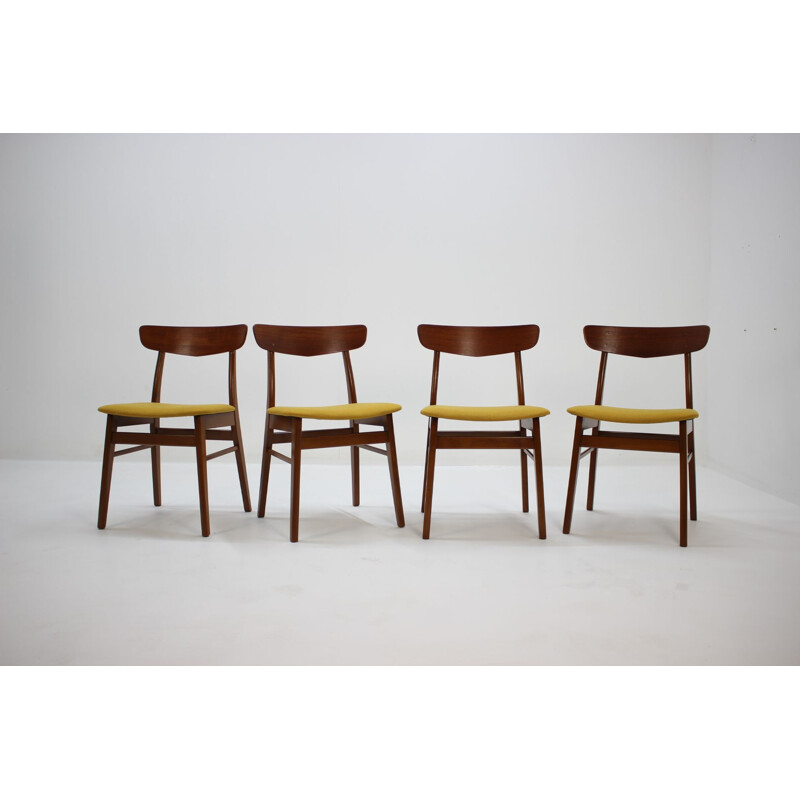 Set of 4 vintage teak Dining Chairs,Denmark,1960