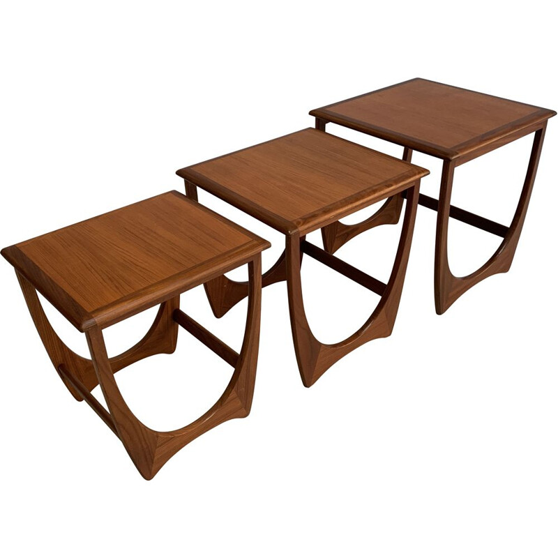 Vintage set of 3 side tables in teak by V.Wilkins for G-Plan,1960