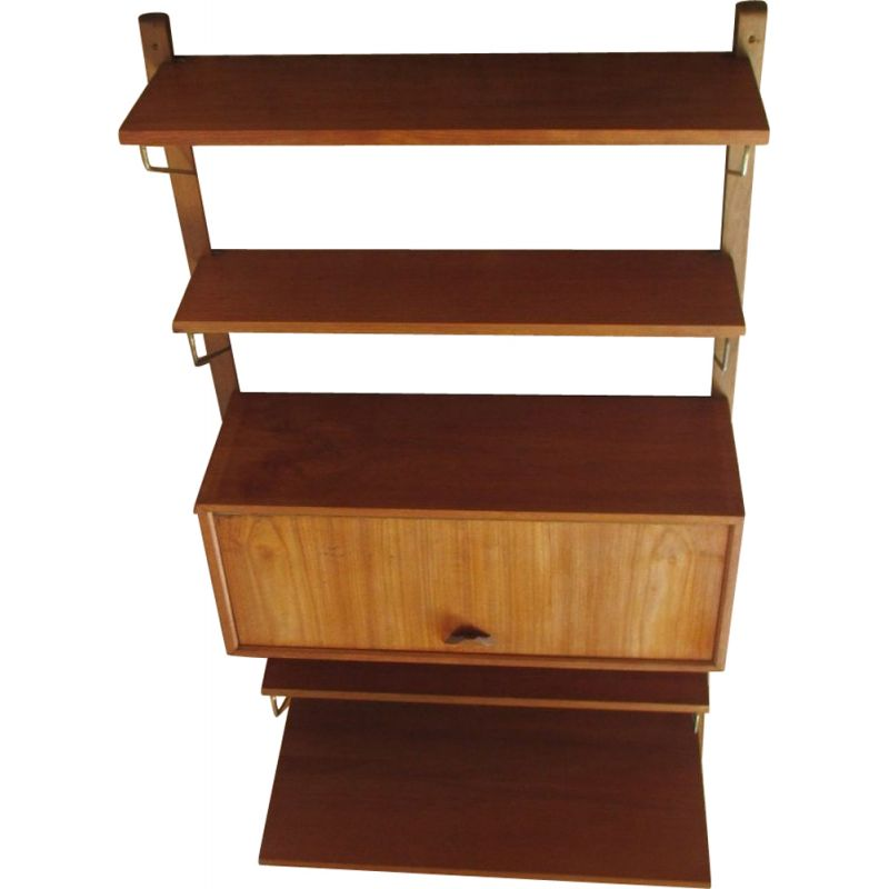 Vintage Danish royal system shelf by Poul Cadovius,1960