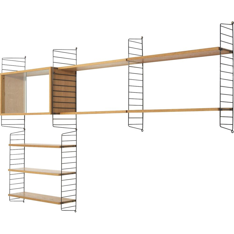 Vintage shelves in ash by Nisse & Kajsa Strinning 1950